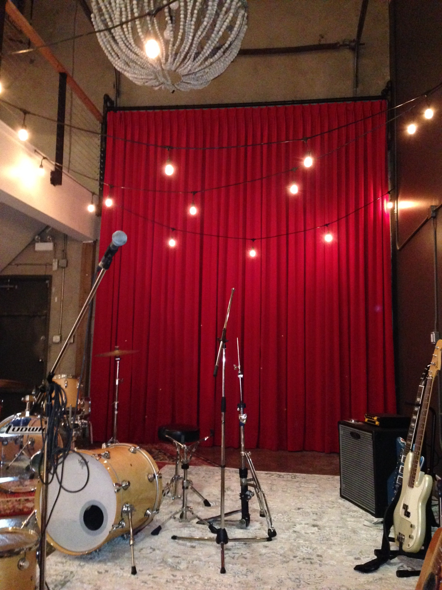 Custom drapes made for Hazel and Brown Design, curtains for a recording space