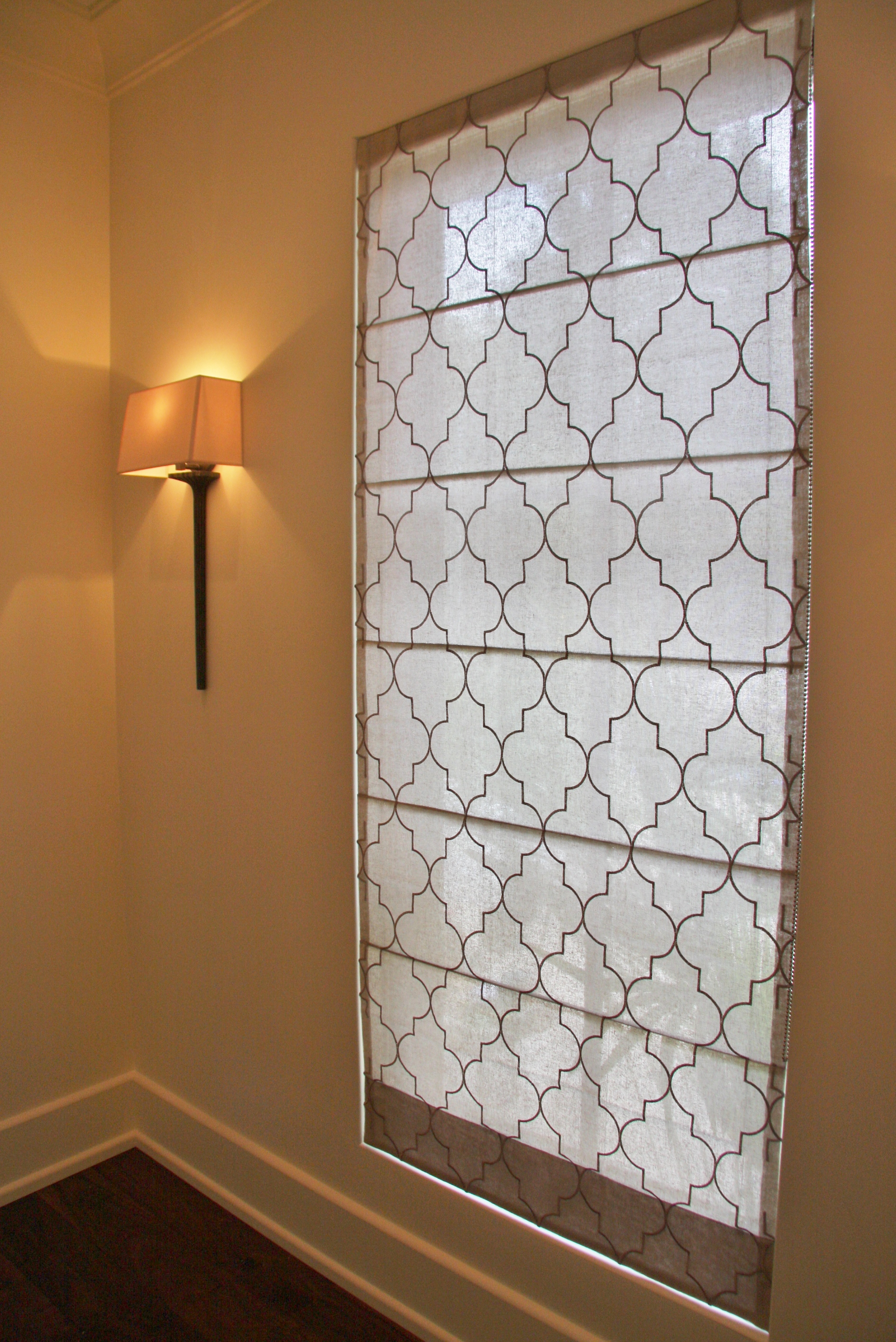 Studio Roman Shade with easy lift system