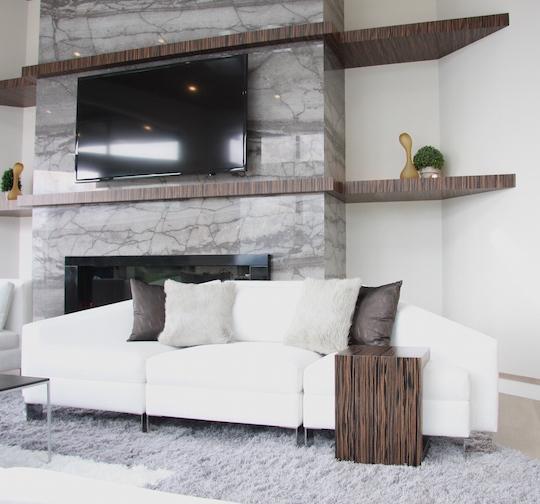 angular sofa custom built for ADC luxury homes