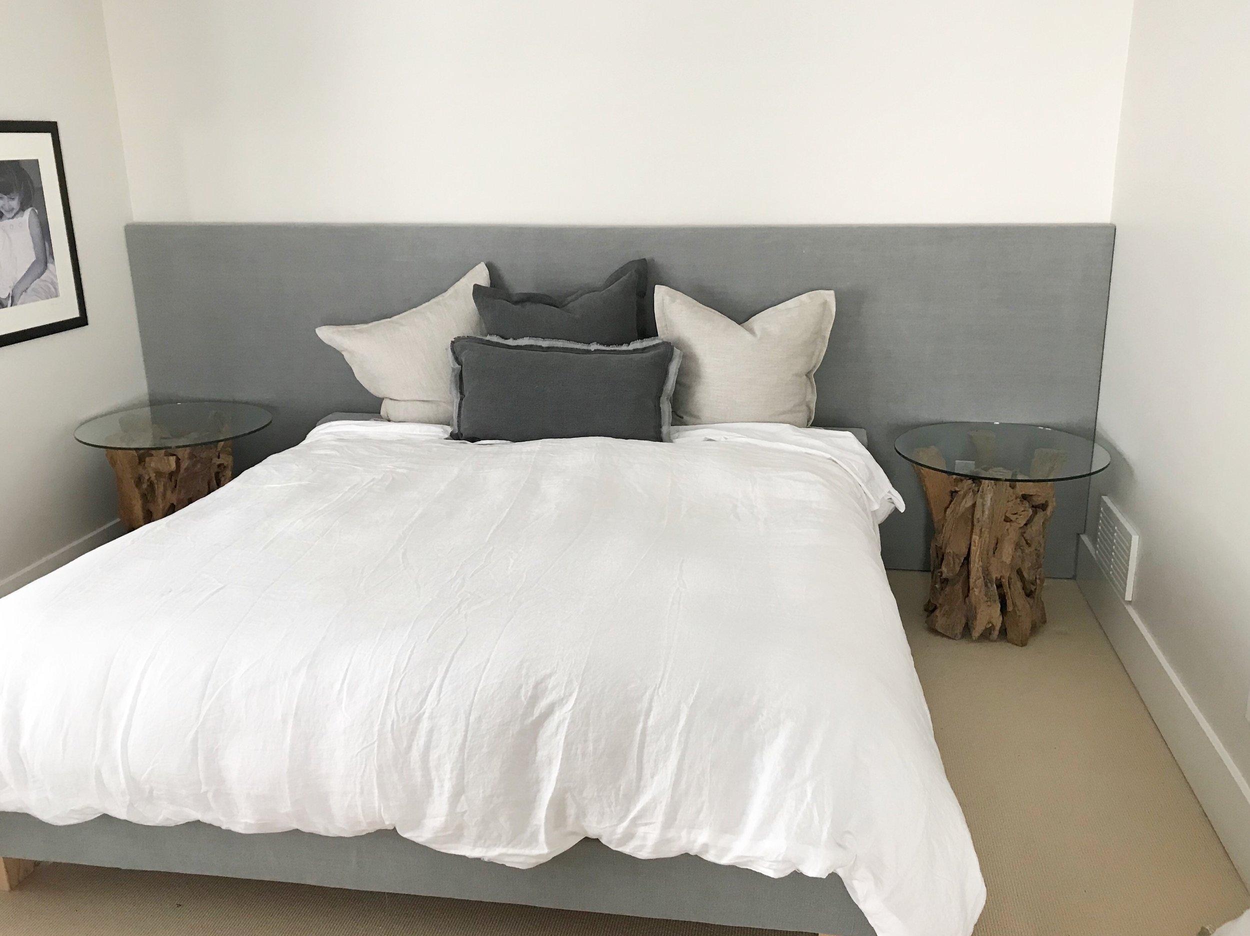 Custom Bed with Headboard Wall Panel