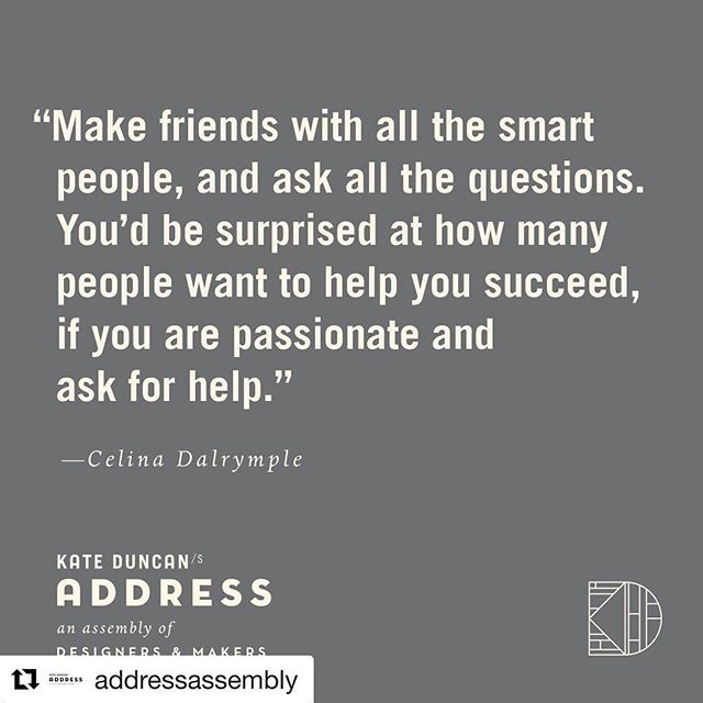 Looking forward to yet another year of fun @addressassembly along side some absolute talents.  #thatswhatshesaid  #Repost @addressassembly ・・・ QUOTE // Words of wisdom from Celina at @fabulousfurnishingsupholstery.⁣ Read more of the ADDRESS interview with Celina on the website. Link in profile.⁣⠀ .⁣⠀ #ADDRESSinterview #exhibitorspotlight #ADDRESSlineup #meetthemakers #ADDRESSassembly #creativecommunity #designermaker #modernmaker #makermade #handmade #custommade⁣⠀ .⁣⠀ quote c/o @fabulousfurnishingsupholstery