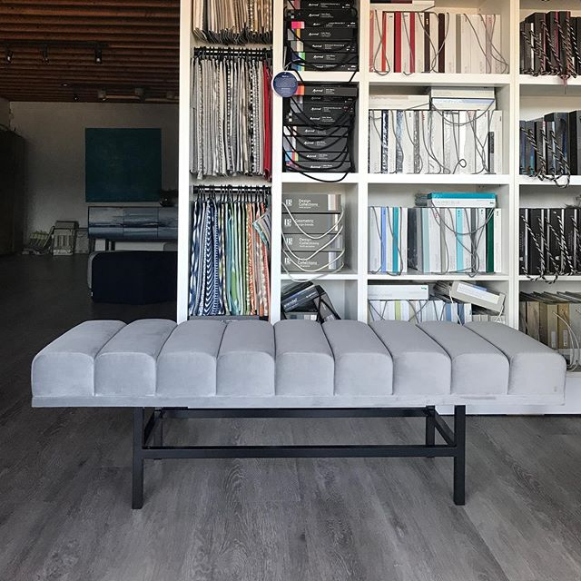 Meanwhile back at the ranch we've been busy! Final execution of a custom bench colab. Designed by @enviabledesigns, metal work by @birdmanthewelder, upholstery by Fabulous. Can't wait to see this in its home! . . . #madewithlove #dreamteam #locallymade