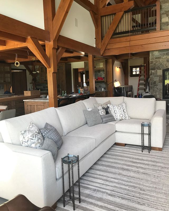 Just back from another splendid trip up to Skeena River Ranch with @daintreeindustries_design . Proud to have so much of our work in this amazing lodge. Not one but 2 massive sectionals planted firmly where they were designed to live. . . . . #daintreeindustries #dreamteam #customfurniture #goodvibesonly #builttolast #countryroads #skeenariver #dudesofas #ranchfurniture #heavyduty #perenialfabric