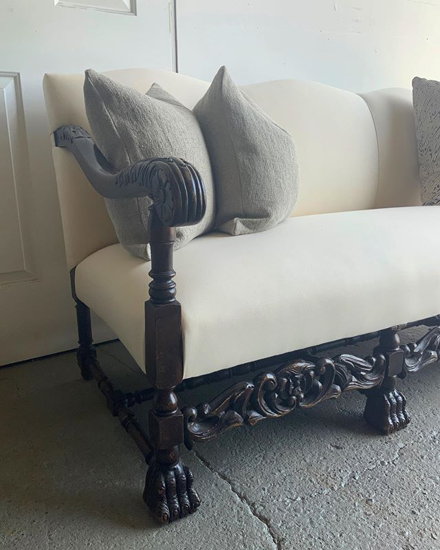 This here is what I call a passion project, and the type of work I intend on continuing to take in for re-upholstery.  Furniture of sentimental value, worthy bones for beautiful grateful human beings.  Thank you so much Connie.  Clients like you make us love what we do.  Happy to give Grandmas set a new life 💕💕