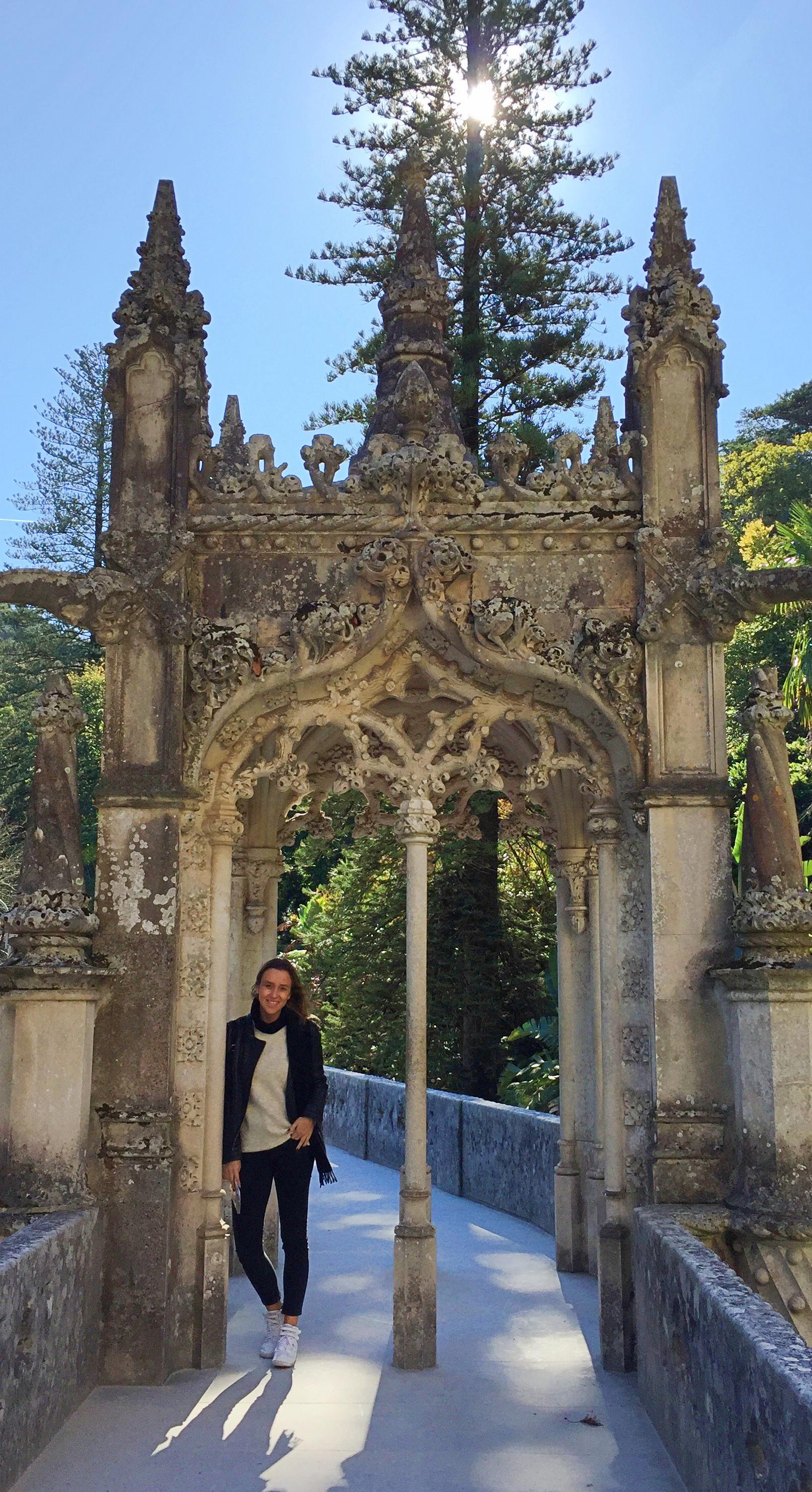 Larissa Bluemel in Sintra Regaleira