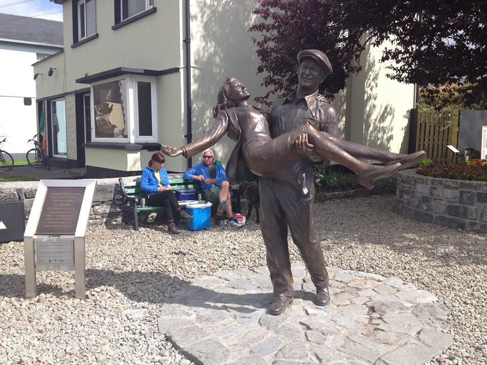 We all want to be swept off our feet like this statue I found somewhere in Ireland.