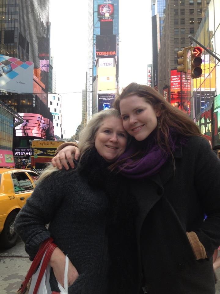 My mom and I in Times Square. I couldn't go a day without letting her know I was alright!