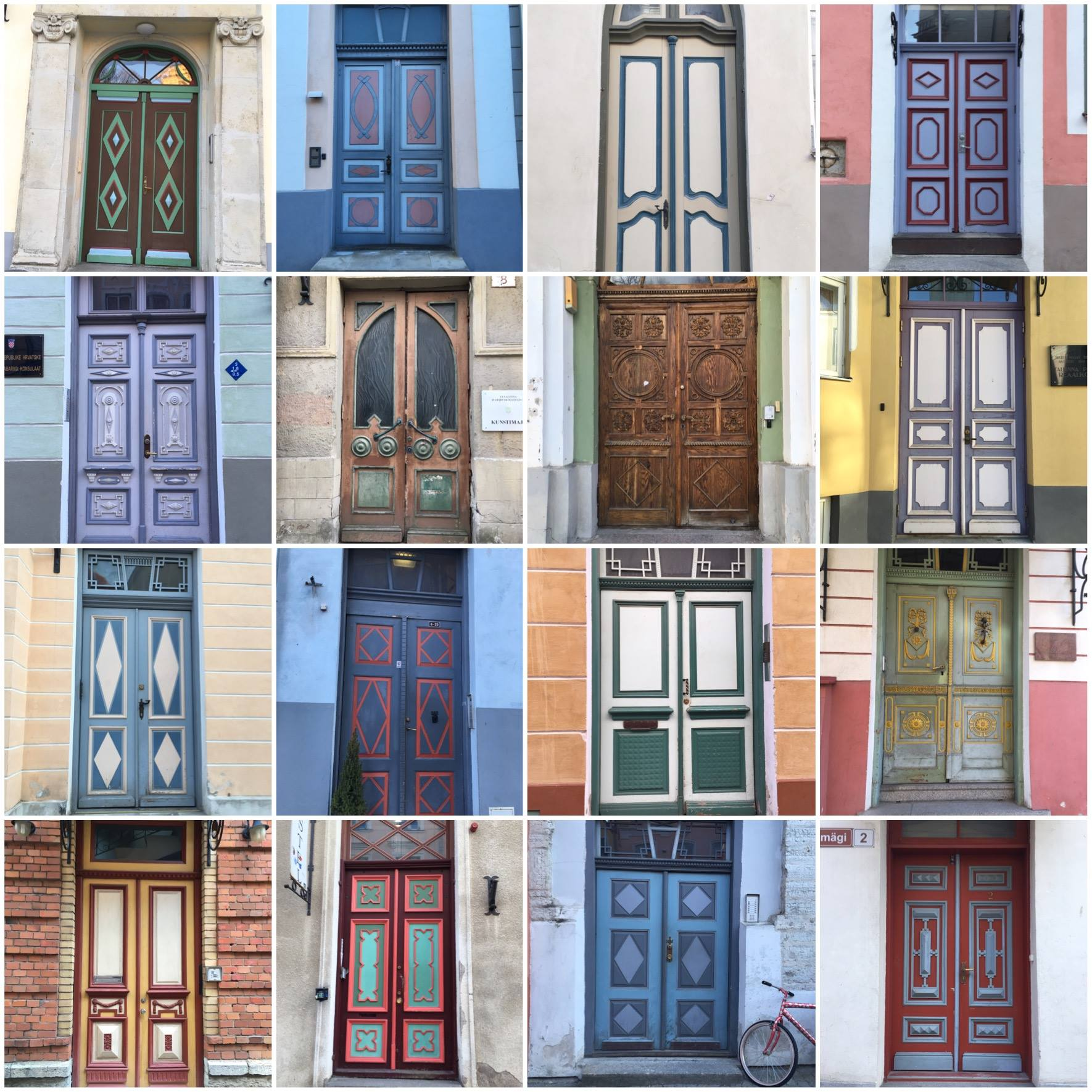 Why traveling alone might just not be for me - or how I took pictures of all the doors in Tallin