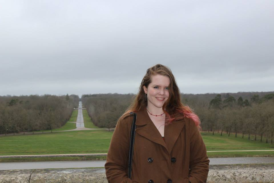 It may've been overcast on this day in France, but I was very happy!