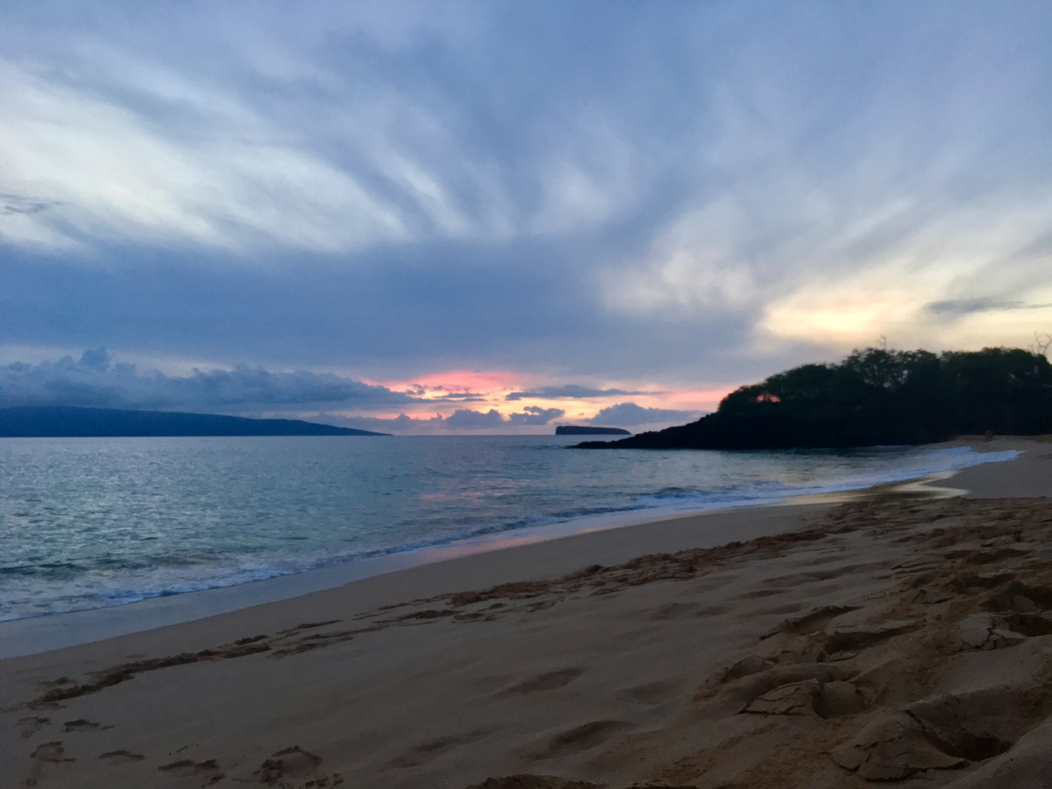The peace of the island spiritually calmed me on Maui. This is Makena Beach, in Wailea.