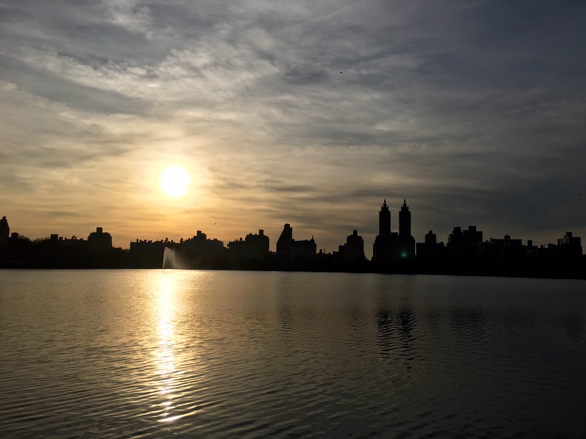 This is the Central Park Reservoir in Manhattan. I never felt unsafe walking here at pretty much any time of day.