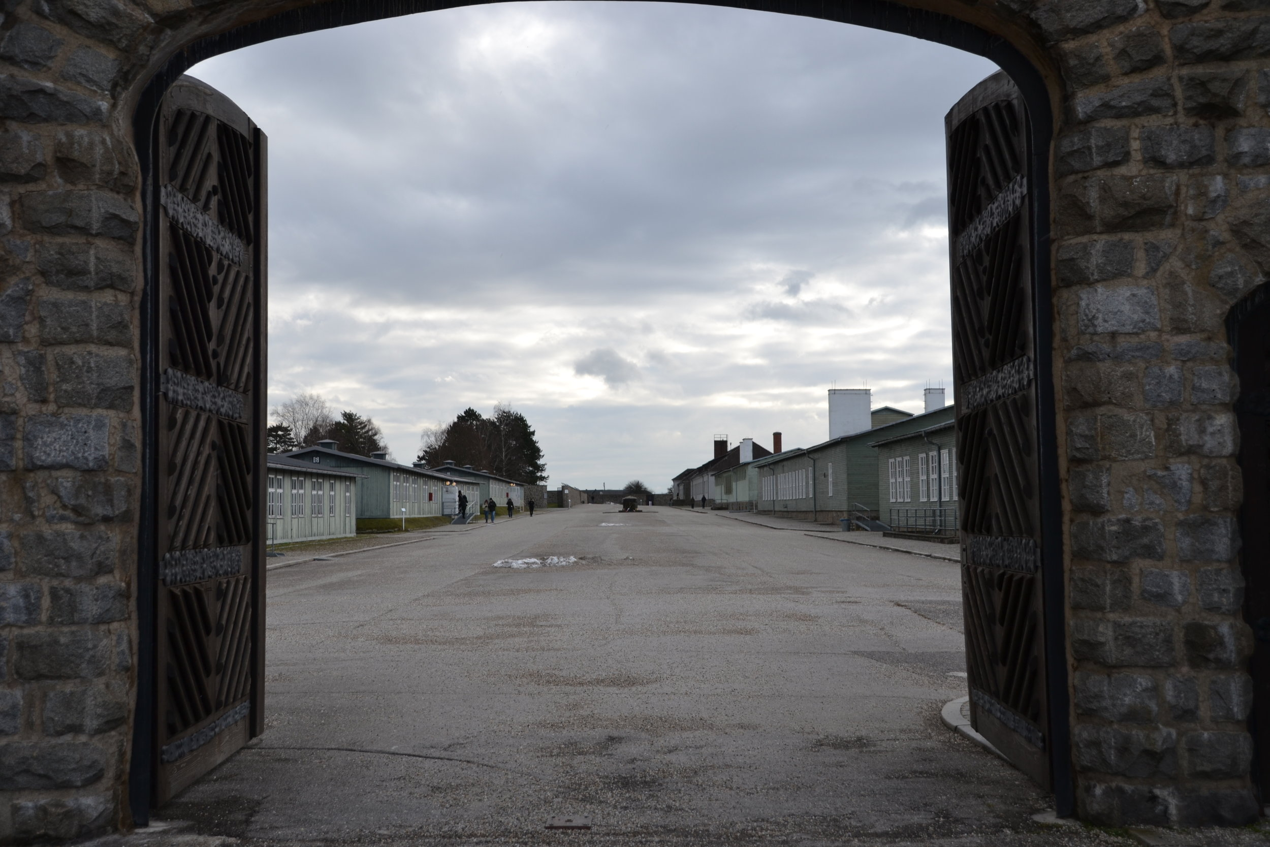 The Entrance to the Concentration Camp Mauthausen