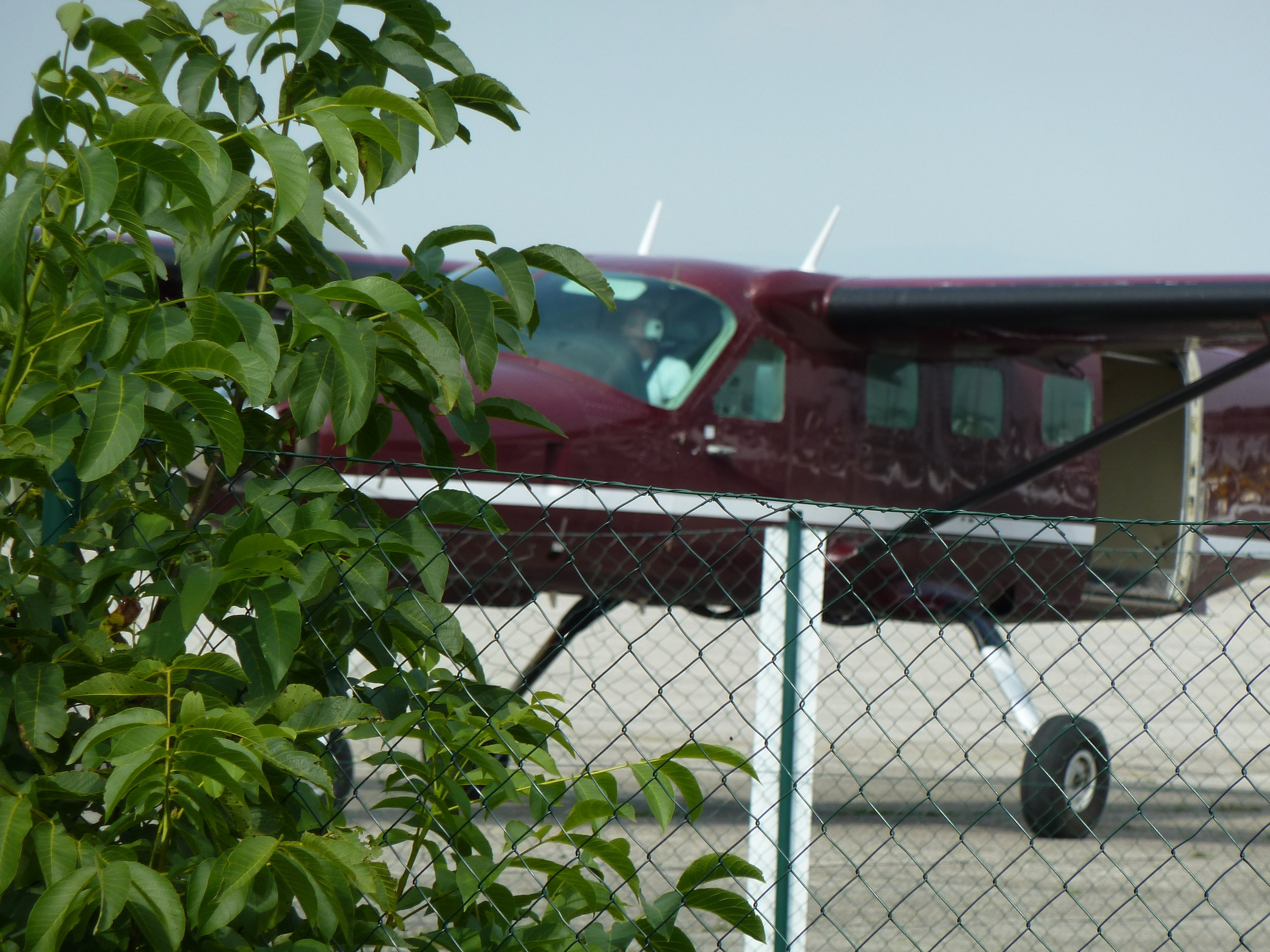 The plane that I parachute jumped out of (See that open door in the back? I was going to sit there in just a few minutes!)