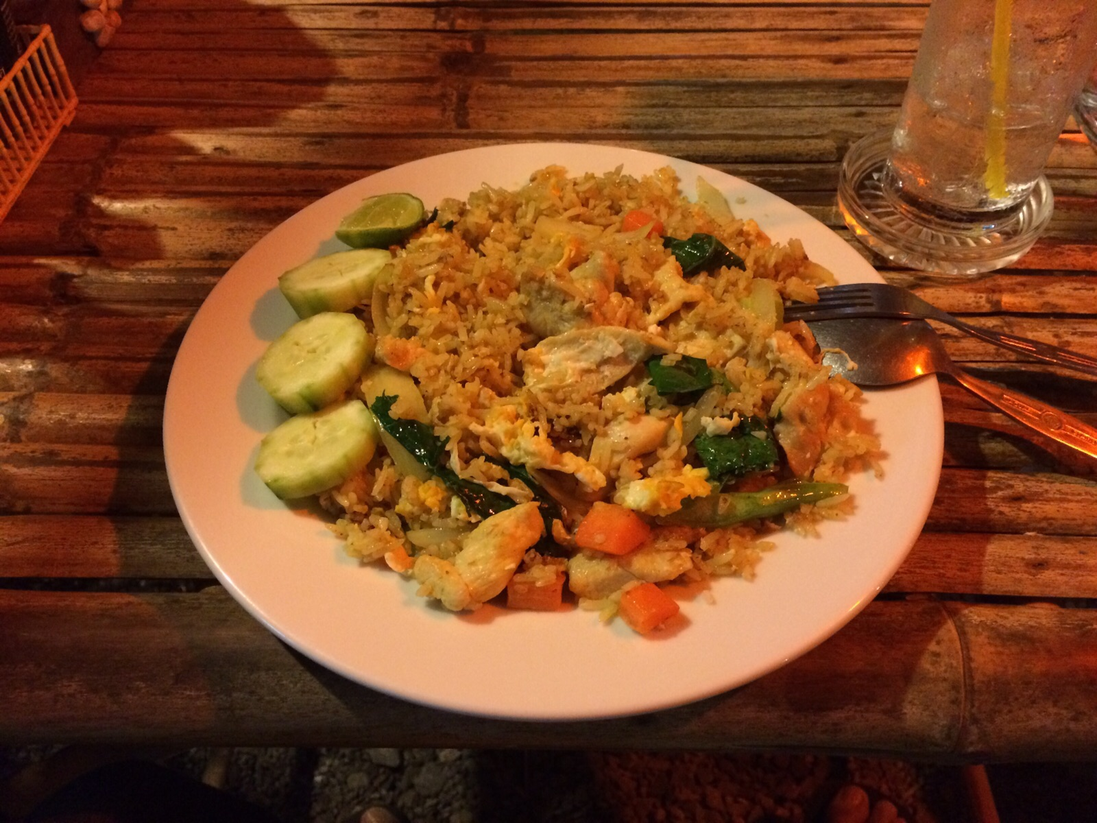 How to avoid the Bali belly - eat a fully cooked Nasi Goreng. YUM!