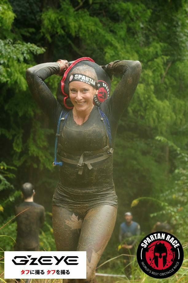This was at my second Spartan race (8-10 miles) in Tokyo and is also how I usually look when travelling: exhausted, dirty and happy!