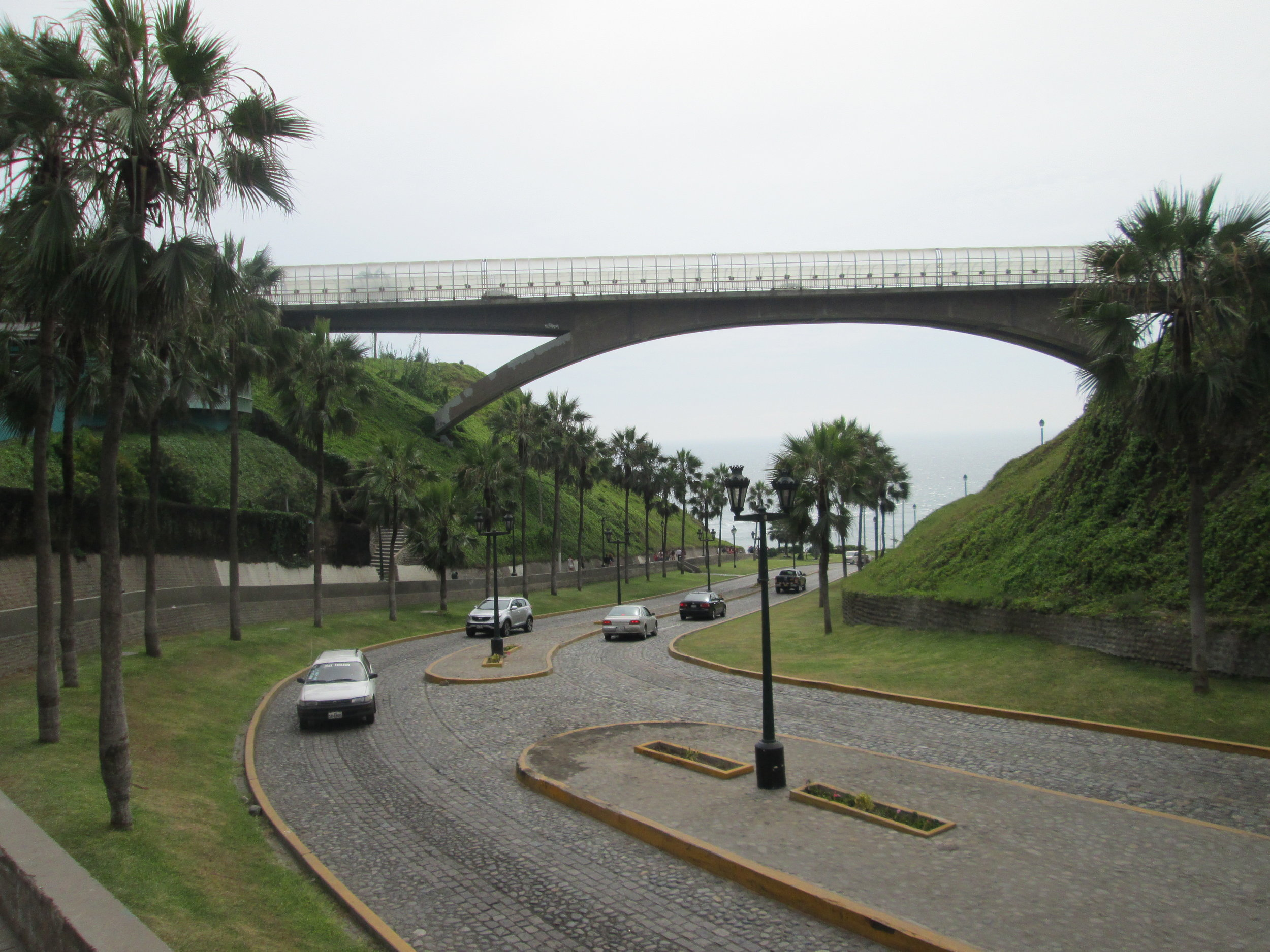 The path down to the Sea in Miraflores, Lima