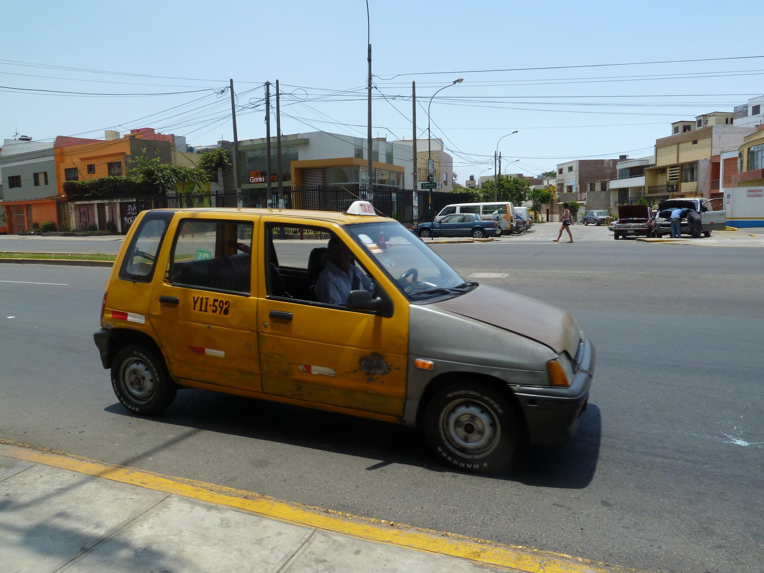"""a """"Tico"""" Taxi in Lima"""