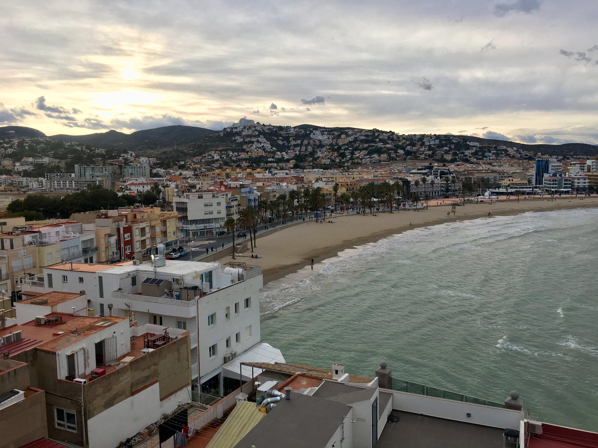 Peñíscola's gorgeous mountain and ocean views.