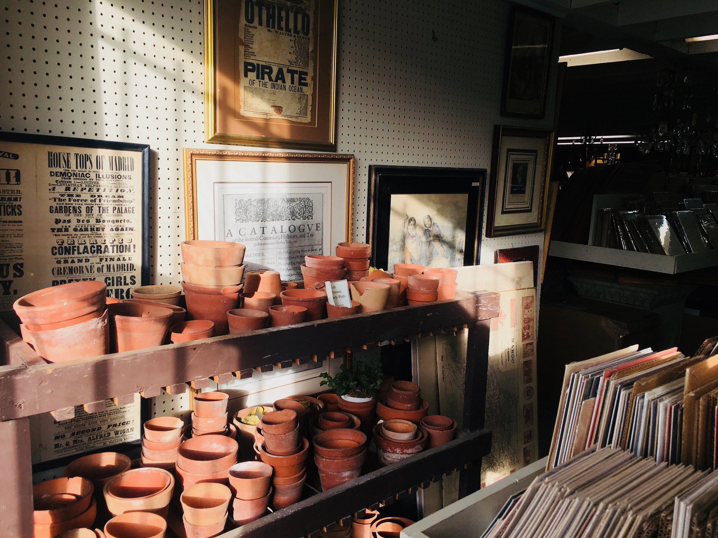 Visiting antique stores during day trips to small nearby towns