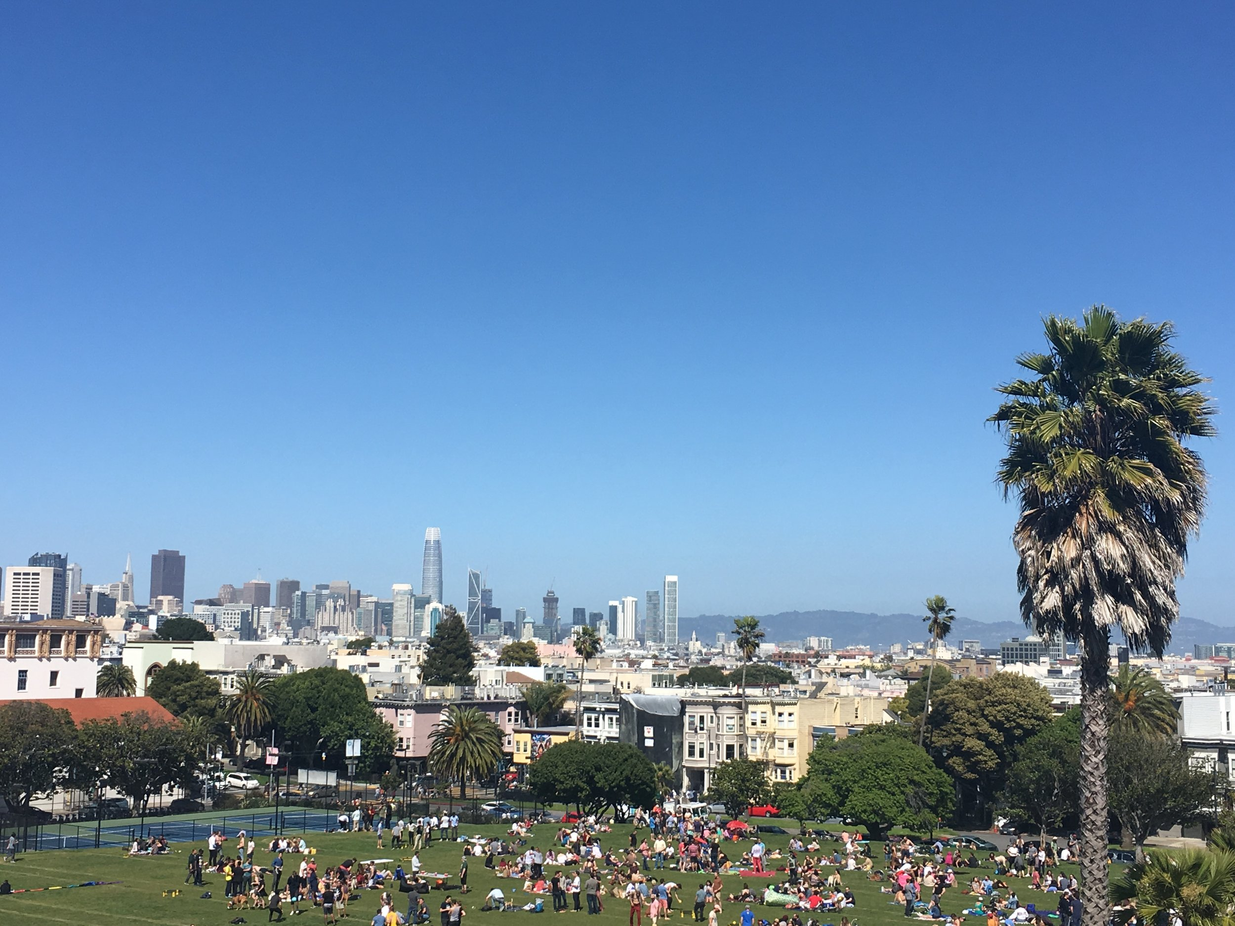 Dolores Park in San Francisco, CA