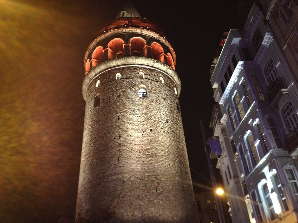The Galata Tower was built in the 14th century and looks like where you would expect to see Rapunzel peeking down from.