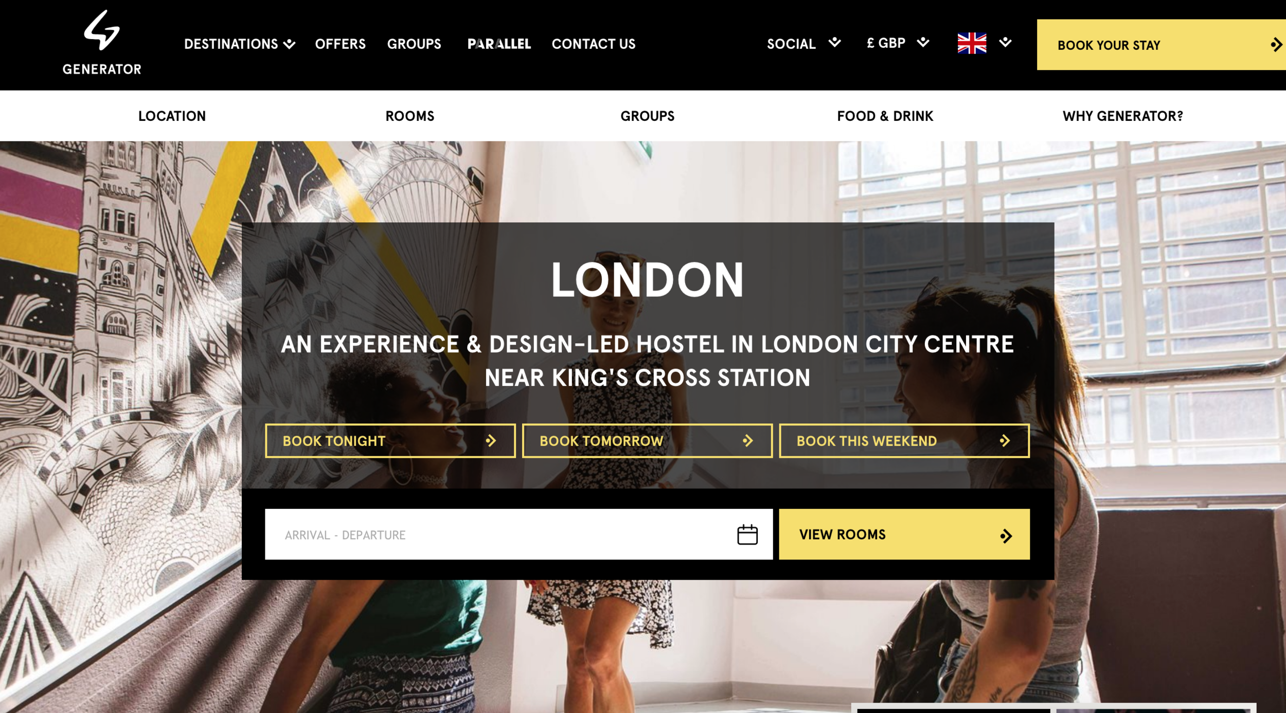 Generator Hostels in London state that for the best pice, is to book directly through them!