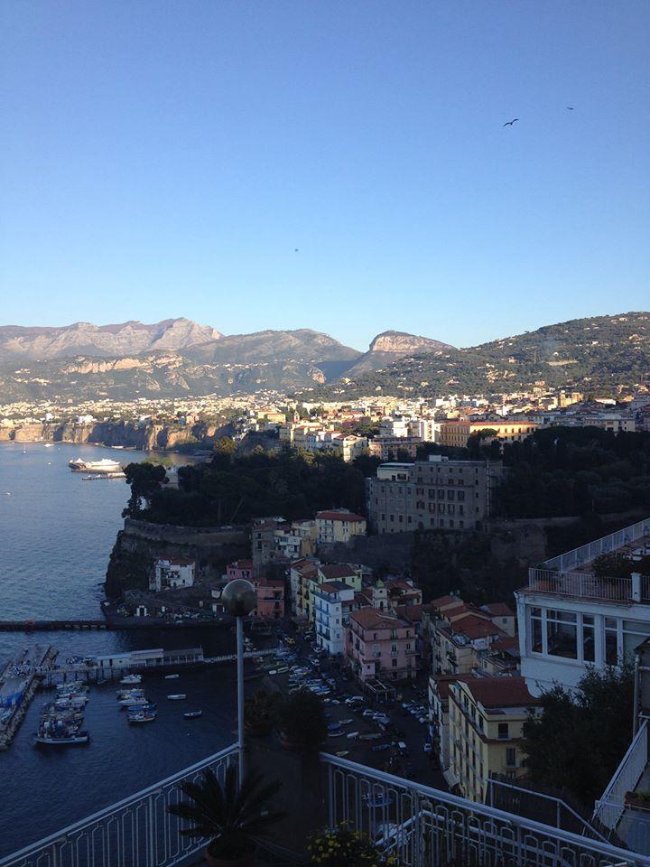 Beautiful Sorrento overlooking the bay across to Naples.