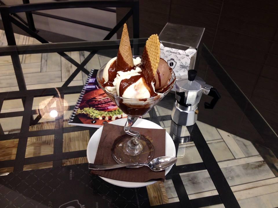 Delicious Nutella gelato in the Naples city center, yum!