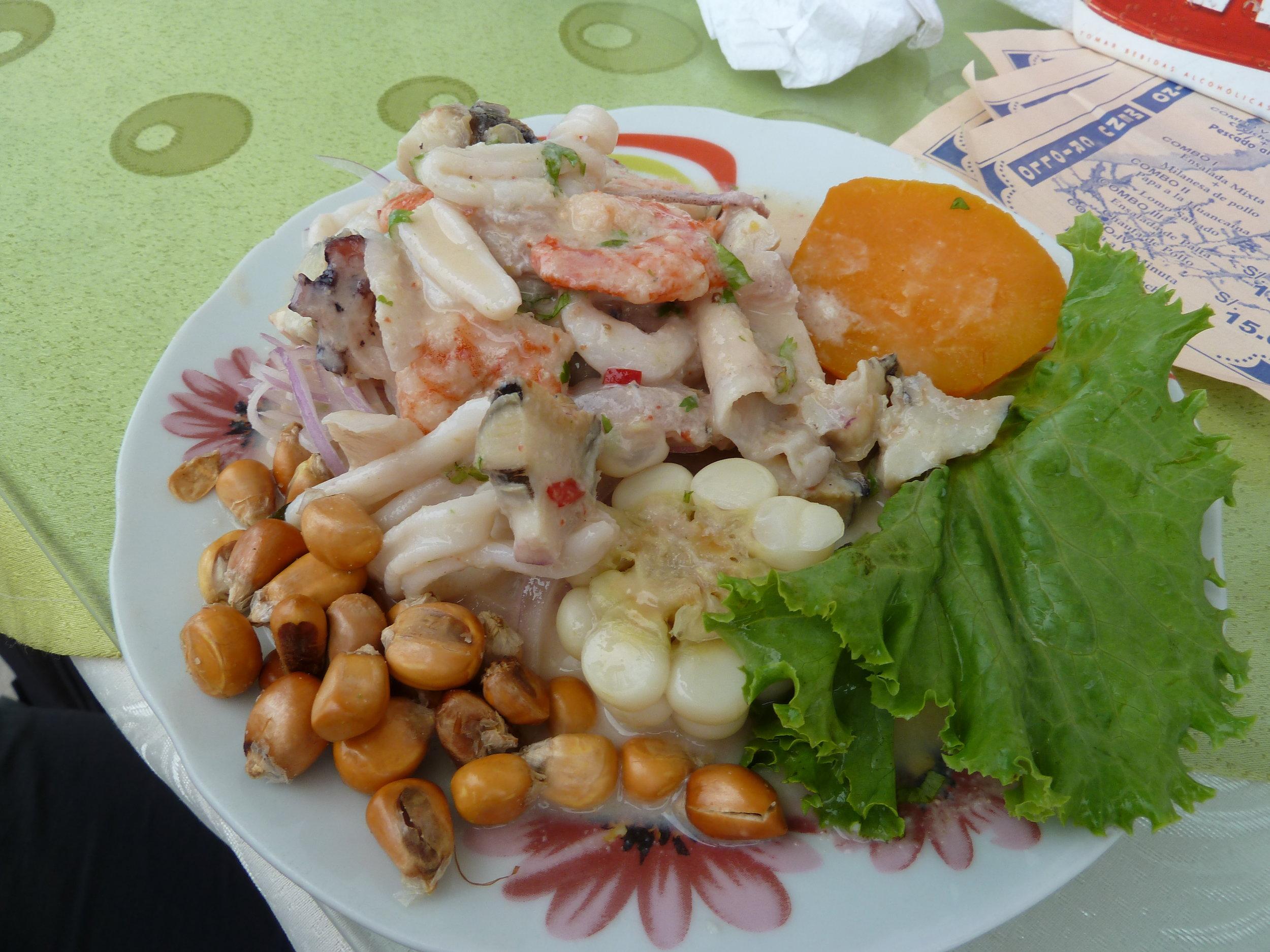 Delicious Peruvian Ceviche