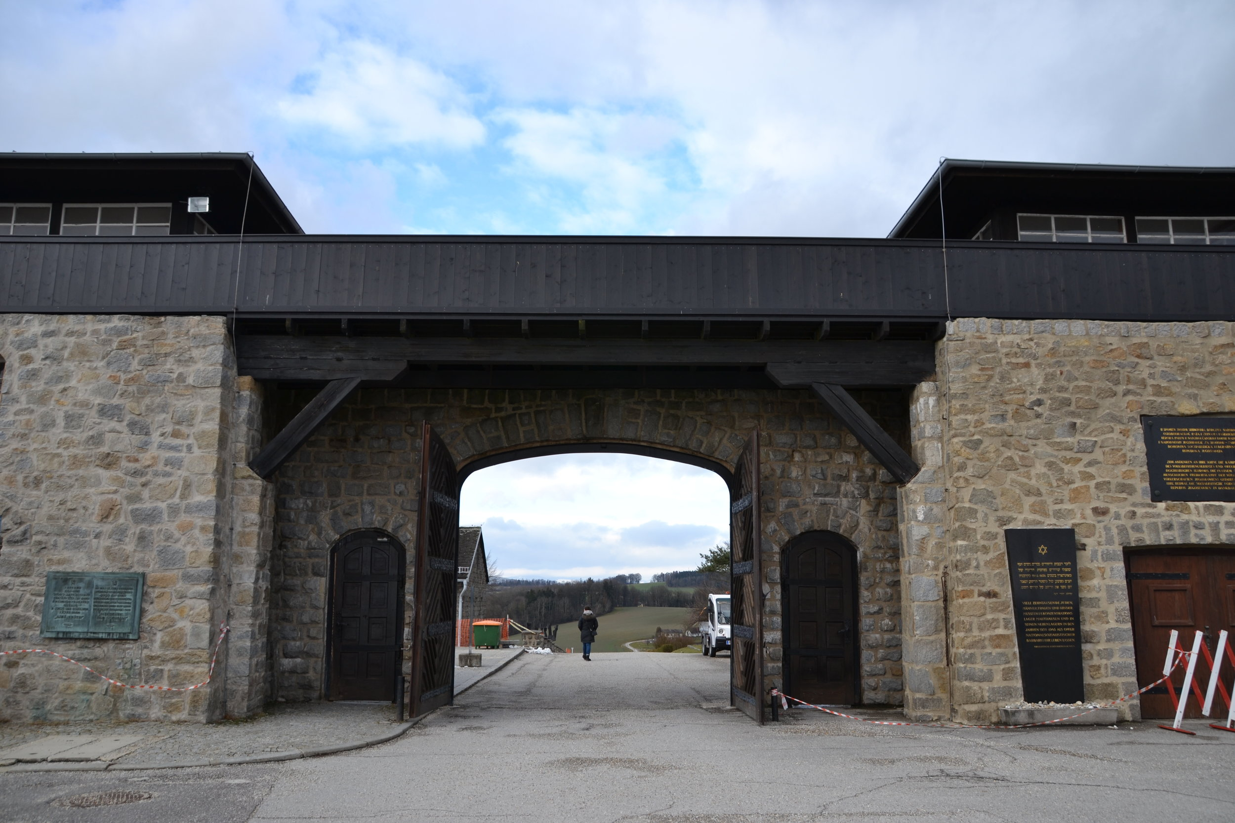 The entrance to the Concentration Camp