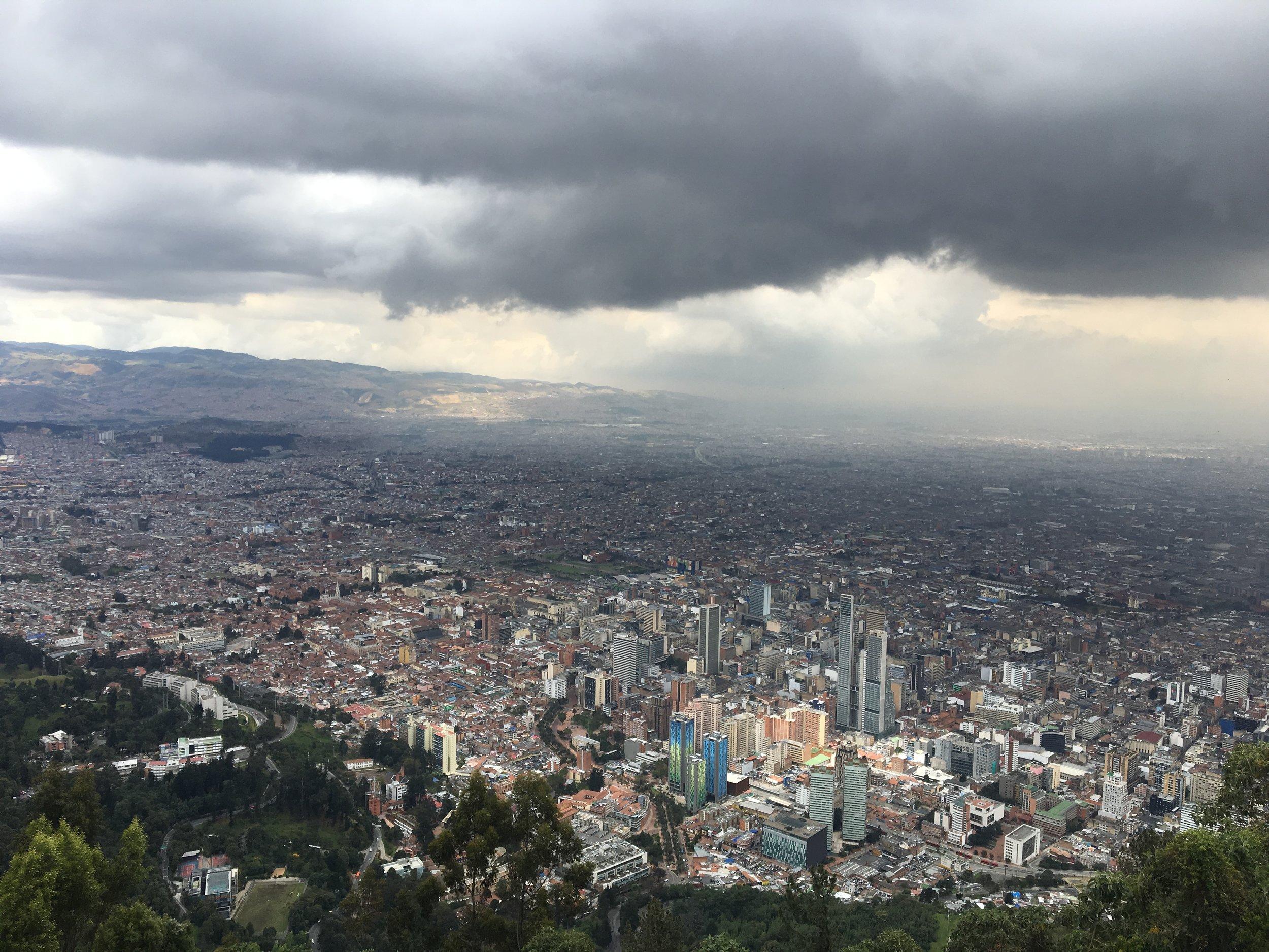 View over Bogotá