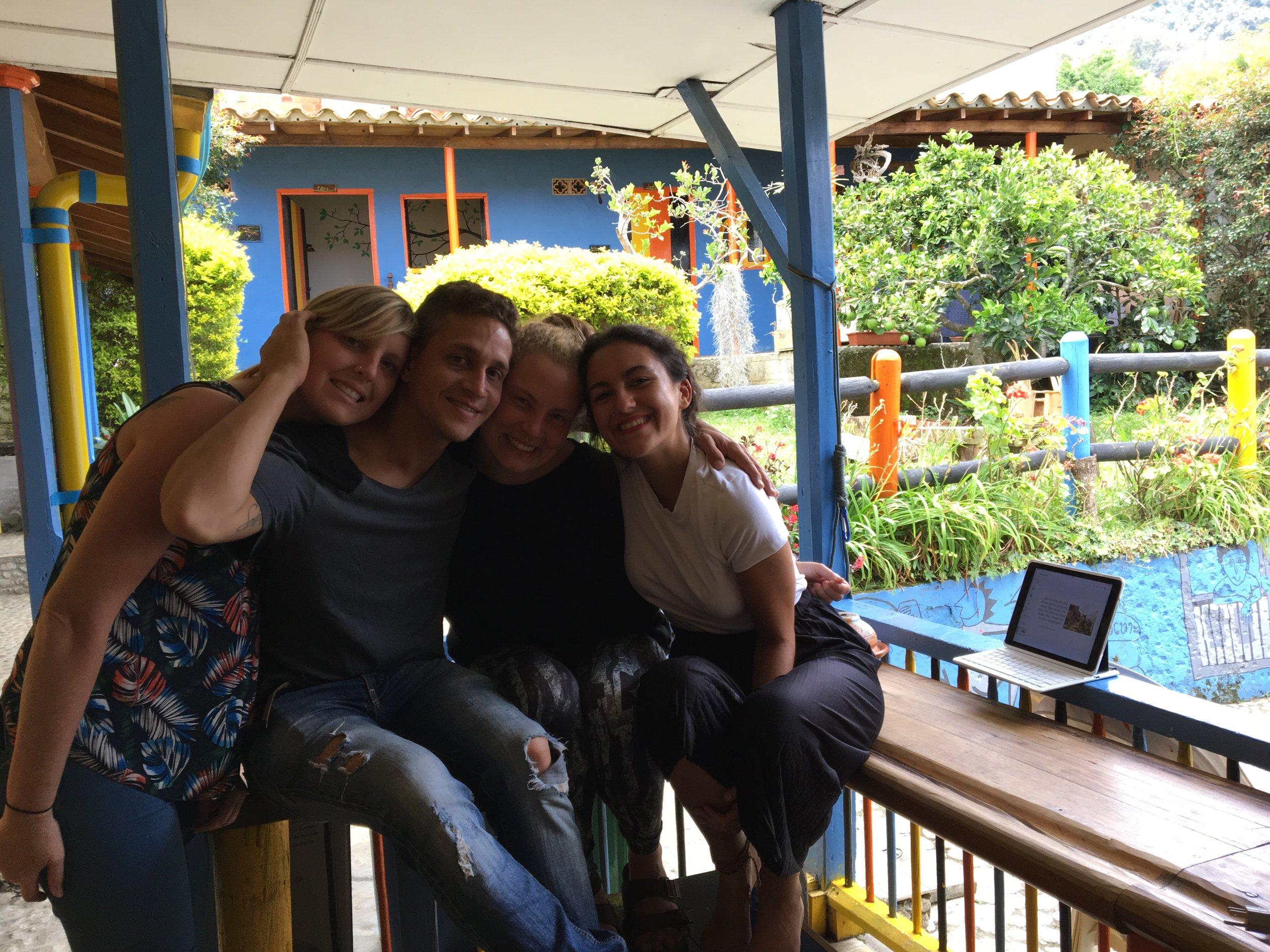 Yasmina with friends in Hostel