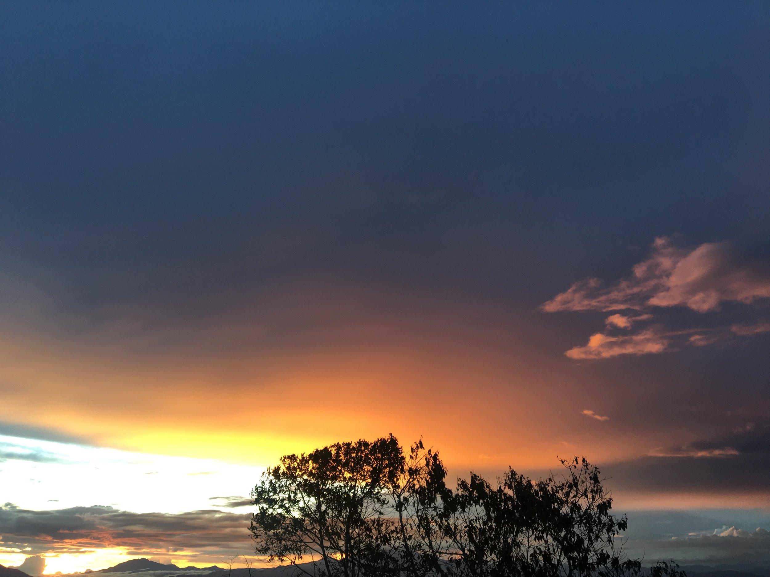 Sunset in Las Nubes