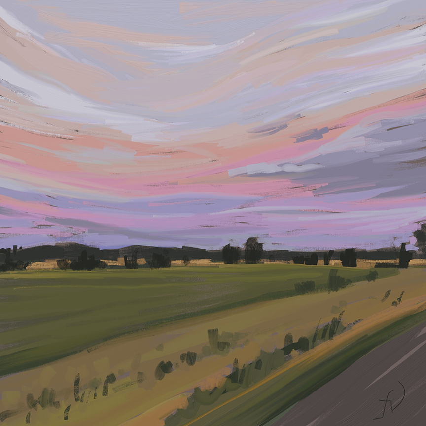 'Bush fire Sky' - Digital painting study