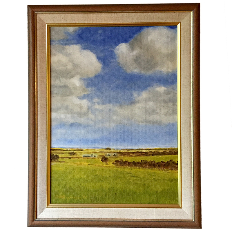 This little Australian landscape in oils was painted by my paternal grandfather back in the 1980s. I wonder if – coming from The Netherlands – he was instinctively drawn to flat farmlands?