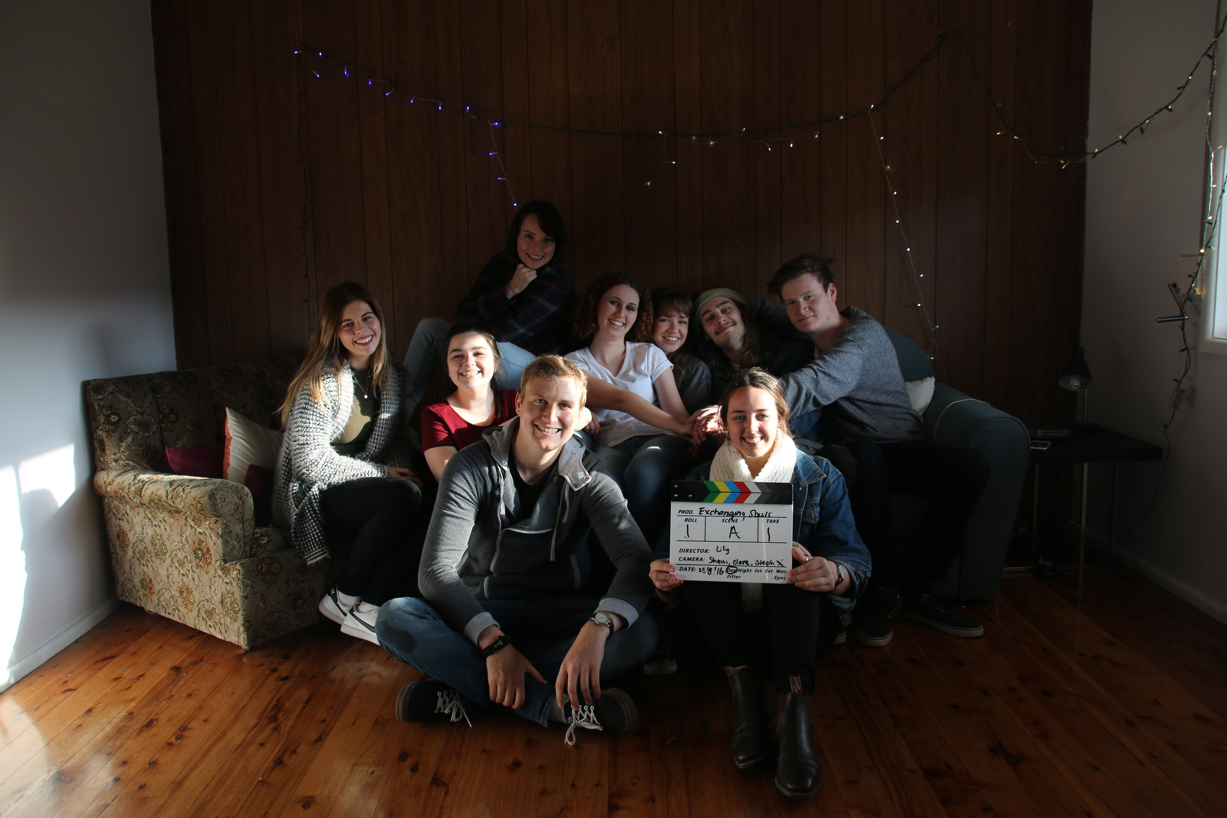 Our Team on the Day of Shooting