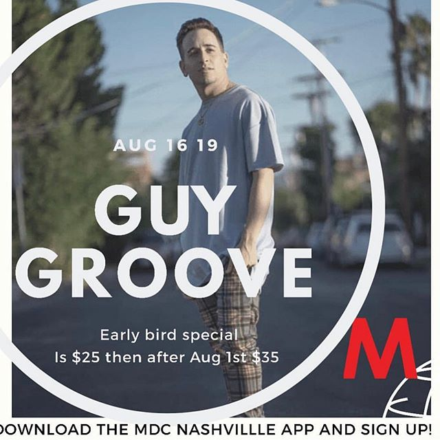 NASHVILLE‼️ Come dance with me August 16th at @mdcnashville ... Today is the last day for the early bird special‼️I hope to see you there 💙 I will be awarding a scholarship to @reveldanceconvention as well as some free Merch‼️ #guygroove #guygroovechoreography