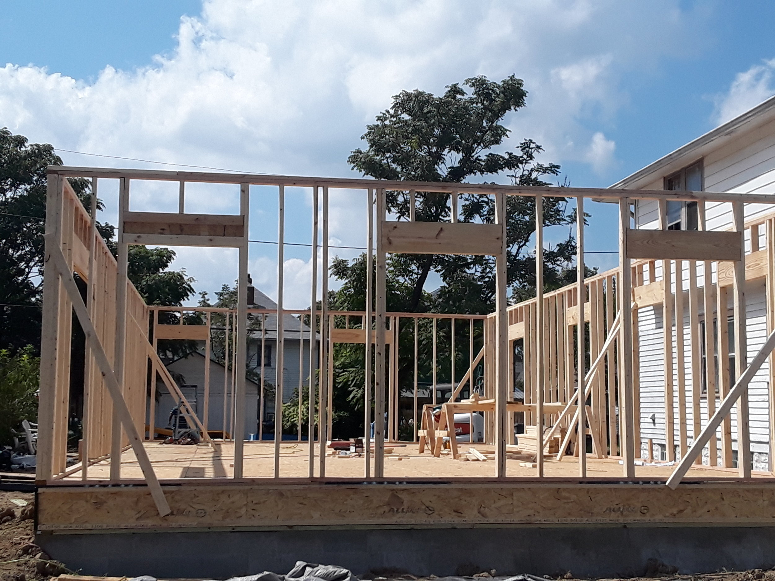 Framing - After the foundation was installed we started the framing of the home.