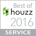 awarded Best Customer Service by Best of Houzz 2016 panel