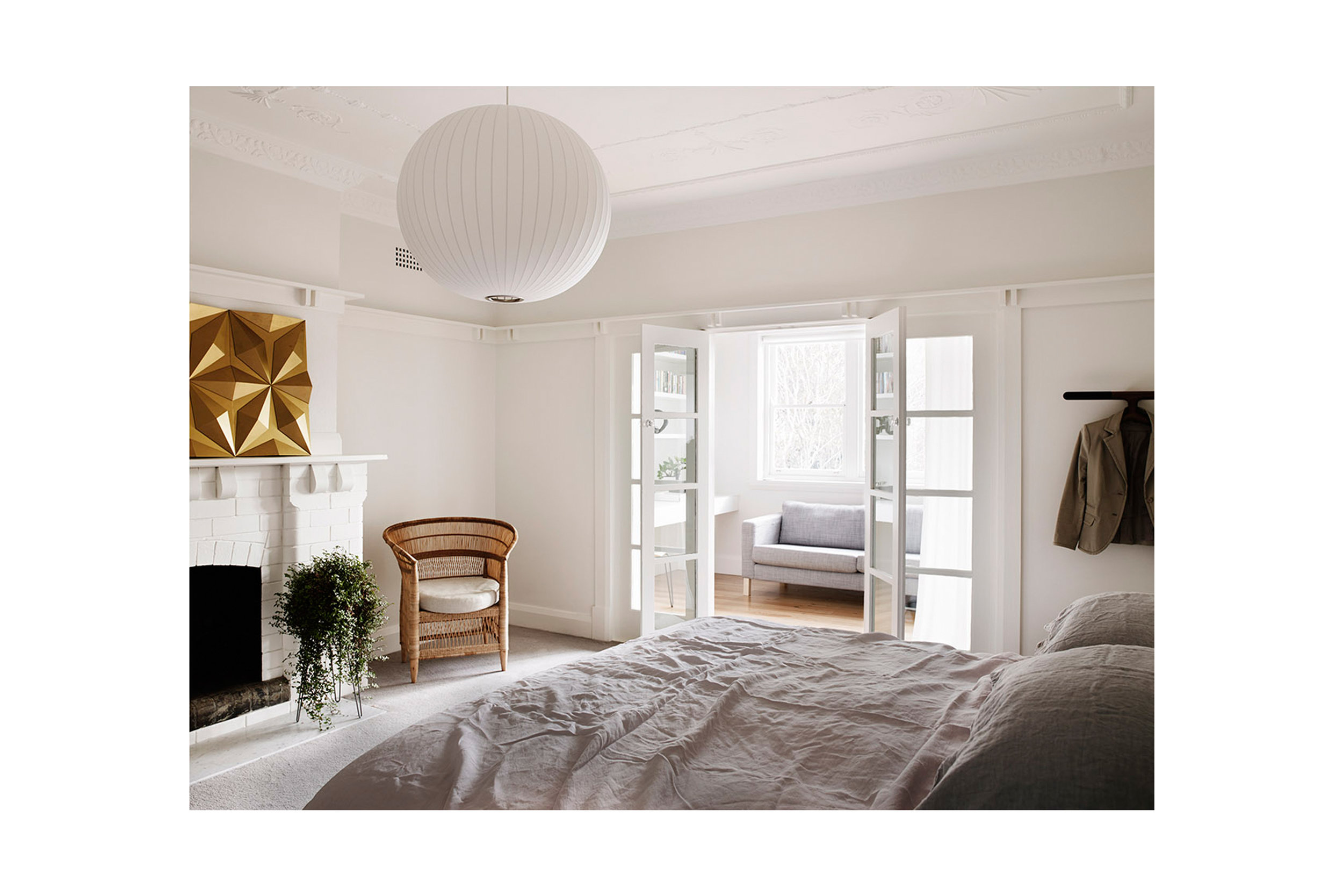 Website | File | Terence Yong Architecture | Coogee House : 2 in 1 | Alteration | A combined Main Bed-Study-Ensuite room that redefines a typical bedroom design | Looking to the West (Study room) from the Main Bedroom.jpg