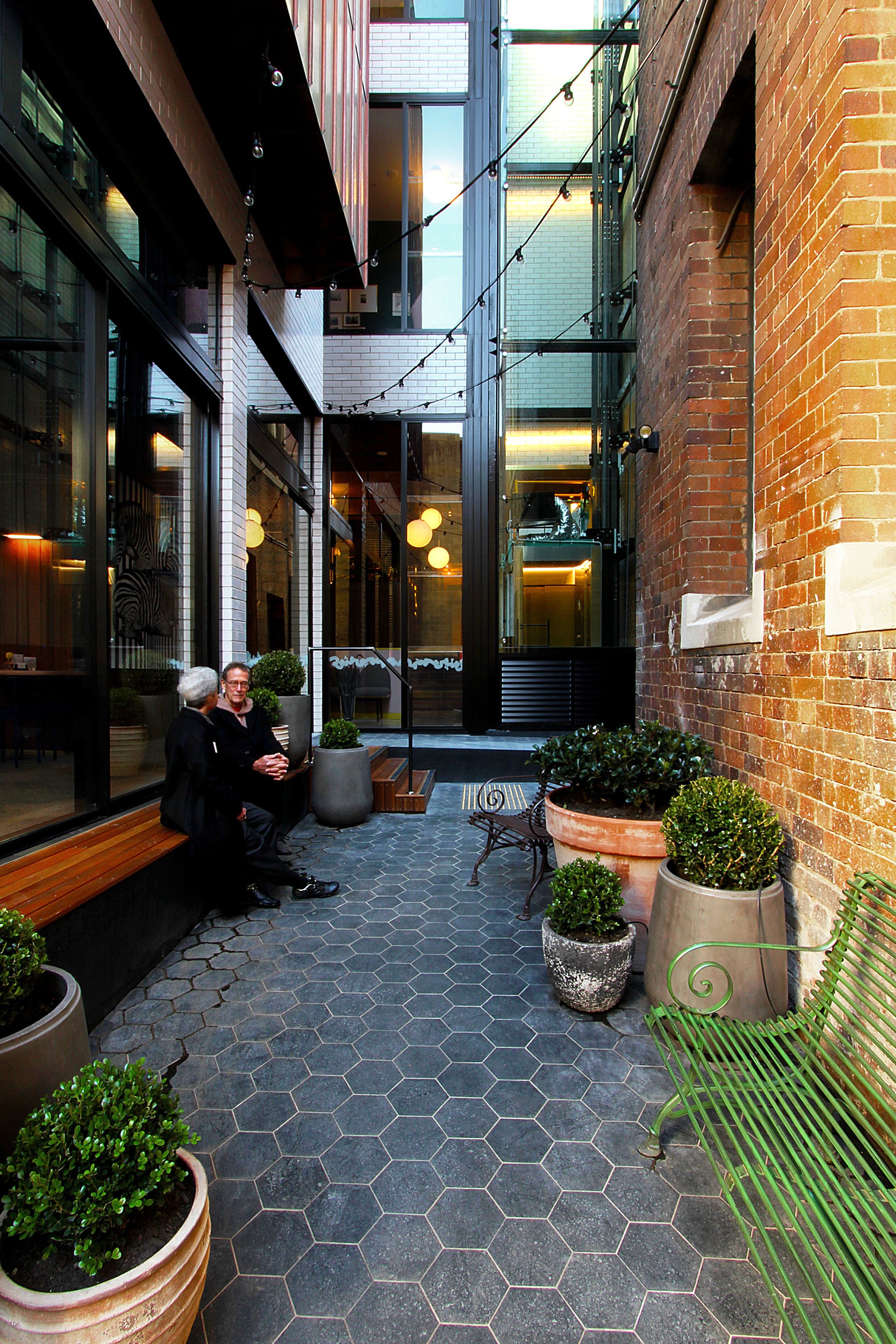 TYA Photography | Little Albion Guest House | Entrance Courtyard | Winter | Sunset 01 | A9204.jpg