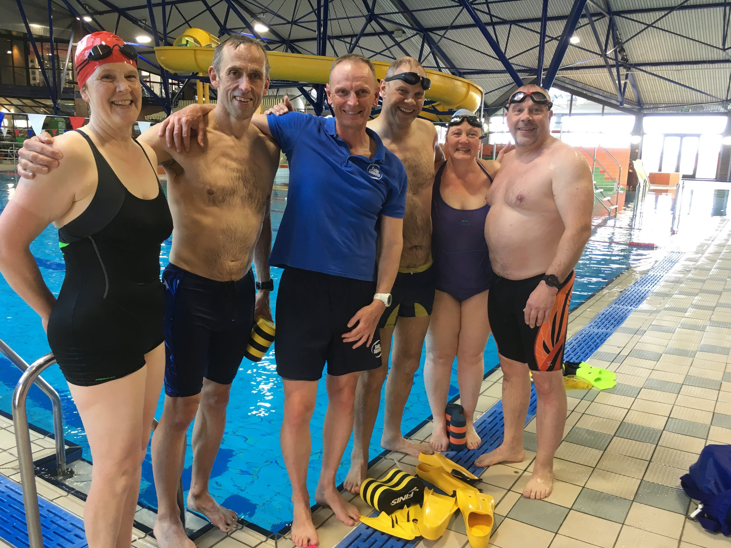 Tessa, John, Conrad, Amanda and Clive with one happy coach.