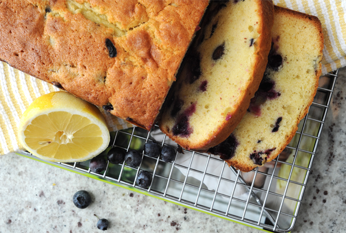Blueberry Lemon Honey Pund Cake