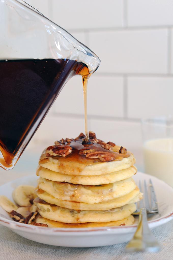 Banana Pancakes on stylingmyeveryday.com