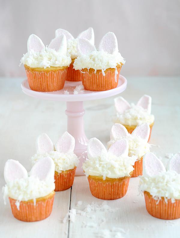 Bunny Coconut Cupcakes