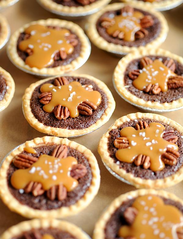 Mini Salted Caramel Fudge Pies-7944