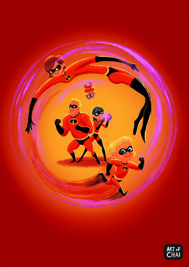 Incredibles 2 fan art