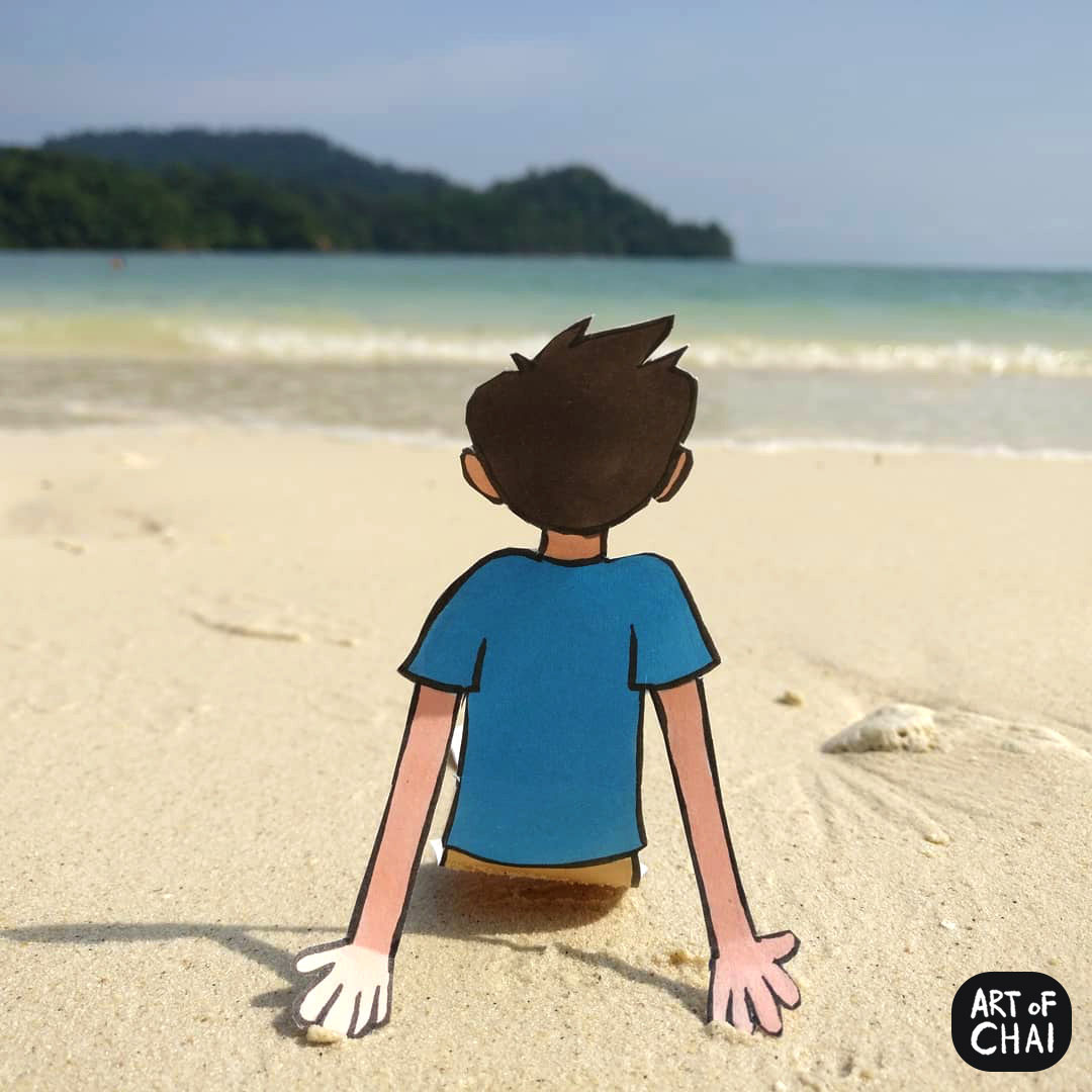 Chai loves chilling on beaches listening to the waves come by and the breeze blow the hair.