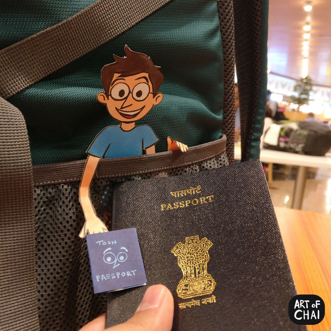 That's Chai ready and packed up with his passport for our trip to Malaysia !