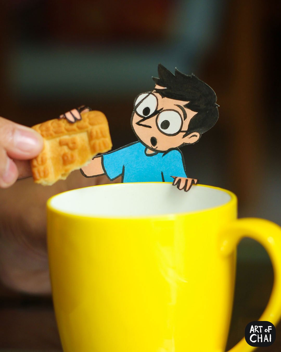Dipping a glucose biscuit in chai and eating it before it plops into the cup is a skill. Chai has a long way to go before mastering it.